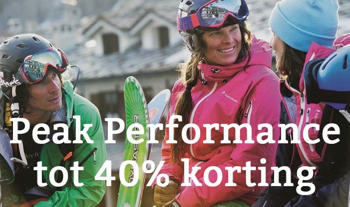 Peak Performance korting
